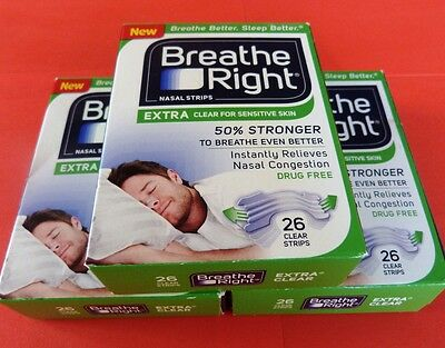 78 Breathe Right EXTRA transparent clear Nasenpflaster Nasenstrips nasal strips