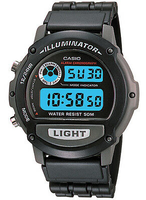 Casio W87H-1 Men's Resin Band Illuminator Alarm Chronograph Digital Watch