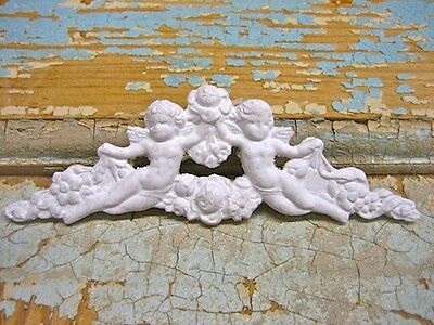 Shabby N Chic Cherubs ( 2 Pc  )  * Furniture Appliques / Crafts  * Wholesale