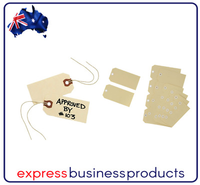 Avery No 1 Shipping Tags Buff 35 X 70mm Box of 1000 - AD11000