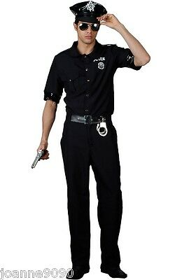 Policeman Police Cop Fancy Dress Costume Uniform Us Glasses New York American