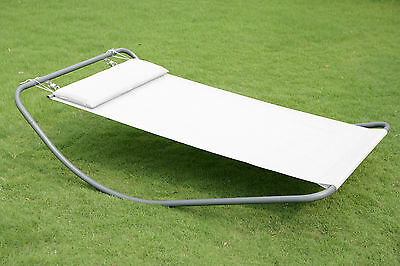 Outdoor Garden Day Swing Bed Sun Lounger Patio Furniture Hammock With Pillow