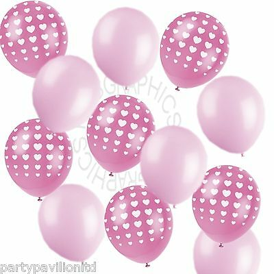 Girls Pink Heart Printed Helium Balloons,Wedding,Engagement,Party Decorations