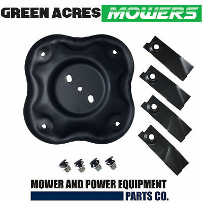 """Quad Cut Blades And Disc Fits Selected 18"""" Masport And Morrison Lawn Mowers"""