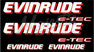 Evinrude Etec - Decal Set Of 4 - Boat Decals