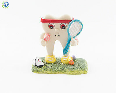 Dental Figurine Decoration Tooth Molar Tennis Hand-painted Resin Collections