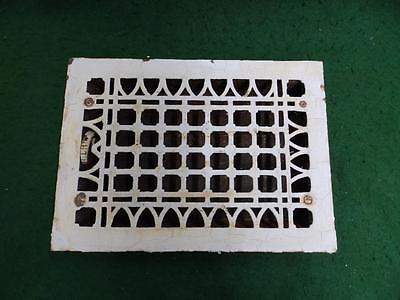 Vintage Cast Iron Gothic Pattern Church Heat Grate Floor Register  #2946-14