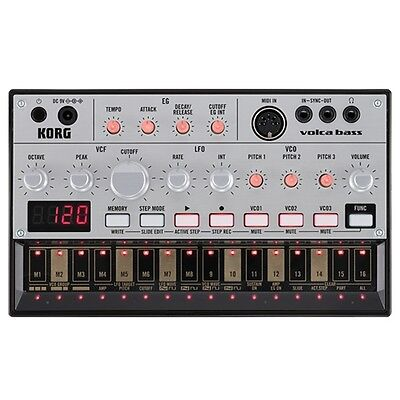 Korg Volca Bass Analogue Bass Step Sequencer Bass Line Production Synthesizer