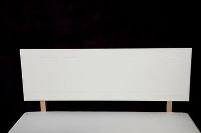 4ft Small Double Size Headboard - White