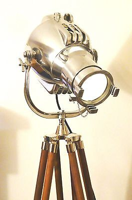 Vintage Theatre Light Antique Art Deco Alessi Floor Standing Lamp Eames Strand