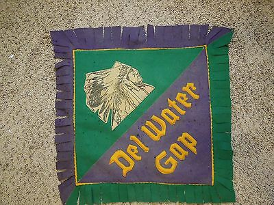 Delaware Water Gap Fringed Felt Sign Native American Patch