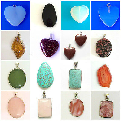 Semi Precious Gemstone Pendant all Sizes & Shapes