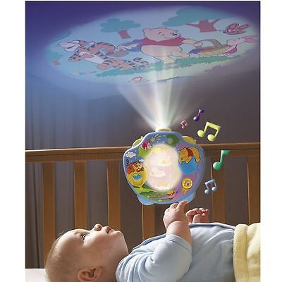 Tomy 2015 Winnie The Pooh Sweet Dreams Lightshow Baby Mobile Cot Projector New