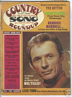 Mel Tillis Covers Country Song Roundup Magazine June  1973 Tex Ritter