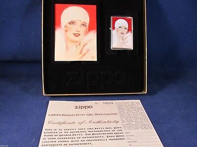"Vintage Zippo Lighter Petty Girl Series by George Petty ""Red"" Mint In Case A8"