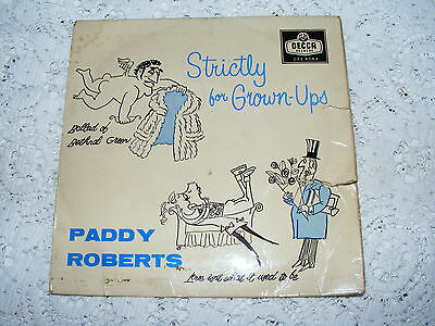 Paddy Roberts Strictly For Grown-Ups  EP   Ballad Of Bethnal Green/L'Anglais 7""