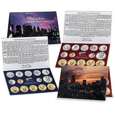2008 P & D United States Mint Uncirculated Coin Set