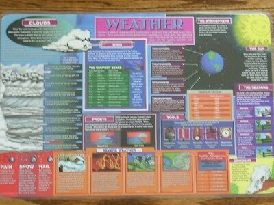 Learning Placemat - Weather *NEW* M. Ruskin Co.