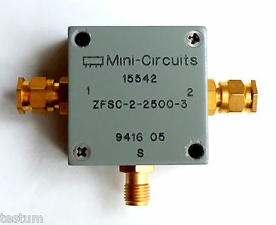 10-2500 MHz power splitter/combiner. Tested and guaranteed. Ships free in USA