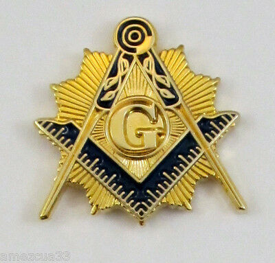 Master Mason Sun splendor Lapel Pin Golden Finish