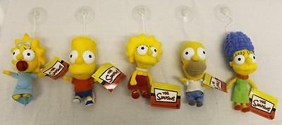 THE SIMPSONS WINDOW SUCKER TOY HOMER MARGE LISA BART MAGGIE OFFICIAL LICENSED