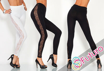 Unique & Elegant Full Ankle Length Leggings With Lace  Sizes 8 - 20  LPL