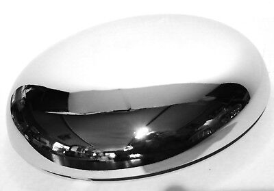 """horn cover 7-1/4"""" to 7-1/2"""" bell size round chrome plated Kenworth Freightliner"""