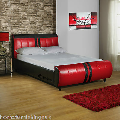 Hf4You Winston Faux Leather 2Ft6/3Ft/3Ft6/4Ft/4Ft6/5Ft/6Ft Bed+Colours+Mattress