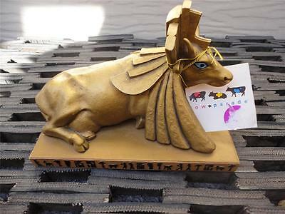 Cow Parade Egyptian Princess Figurine Gold w Tag