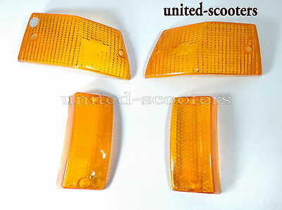Vespa PX LML Front And Rear Blinker Indicator Lens Orange Color P3403
