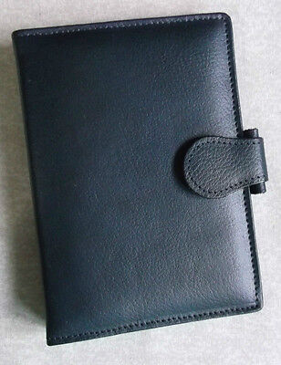 New Westminster London Organiser Company Real Leather Pocket Size File Navy Slim