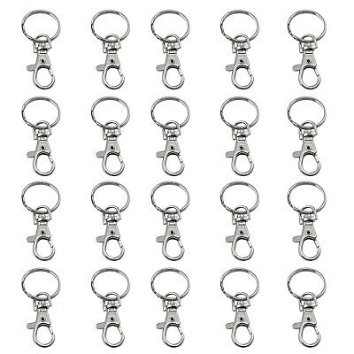20 X Small Lobster Detachable Swivel Clasps for Key Ring Blanks - By TRIXES