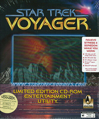 COMPUTER SOFTWARE Star Trek: VOYAGER Limited Ed. ENTERTAINMENT UTILITY MINT!