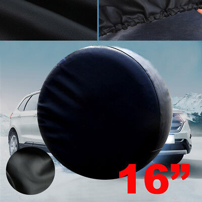 "16"" BLACK SPARE WHEEL TIRE COVER  HEAVY VINYL EASY INSTALL protector 29"" 30"" 31"""