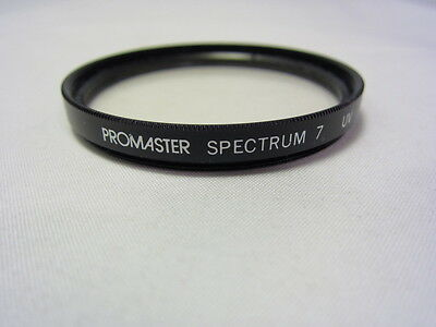 Used PROMASTER SPECTRUM 7 UV 52mm Filter Made in Japan 6311052