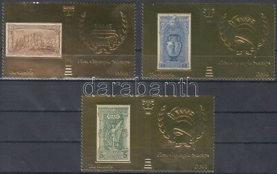Gambia stamp The first Olympics 3 diff. gold foiled stamps MNH 2012 WS132105