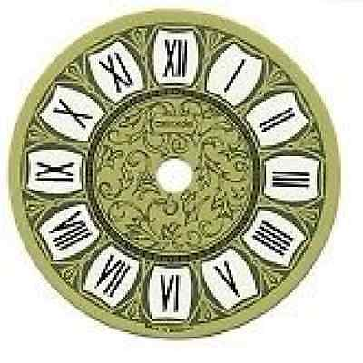Printed Clock Dial 150Mm Dia With Black Roman Numerals  487