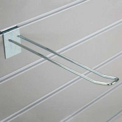 PACK OF 10 EURO SLATBOARD HOOK ★200mm★ Heavy Duty Metal Wall Retail Display Loop
