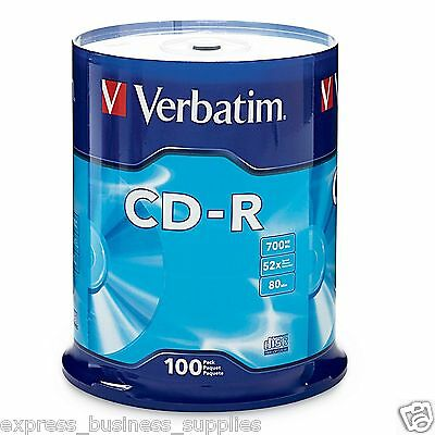 Verbatim CD-R 700MB Spindle 52x 100 CDs - AA94554