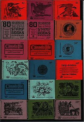 COLLECTION 18  DIFFERENT STITCHED STAMP BOOKLETS  includes DW1