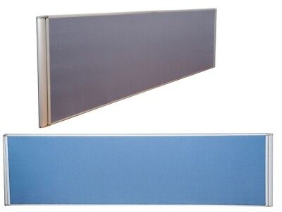 1200Wx500H Flat Top Desk Divider Screen W/Clamps Blue or Grey DMSF1205 Sydney