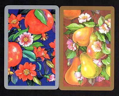 Vintage Swap/Playing Cards - Fruit Pair (Gold & Silver Borders)