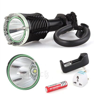 CREE XM-L T6 LED Flashlight Torch Diving Waterproof Lamp 1600LM+Charger+18650