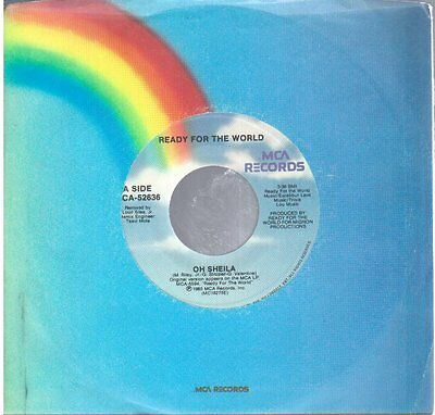 "Ready For The World: Oh Sheila / I'm The One Who Loves You 7"" 45 NM Canada MCA"