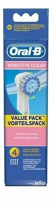 Oral-B EB17-4 Sensitive Clean Replacement Rechargeable Toothbrush Heads 4 Pack