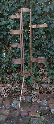 Vintage 50's Mid Century Hand Made Rod Cast Iron Plant Stand