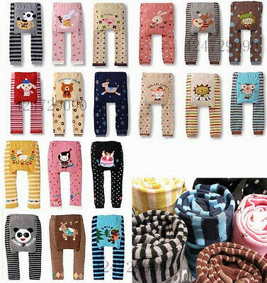 Baby Girl Boy Cute Toddler Animal Leggings Warm Tights Pants Trousers YEA001