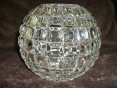 Fabulous Rose Bowl/mirror Block Pattern/mt. Washington Glass Co.