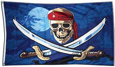 Pirates of the Caribbean FLAG Piraten Banner 90x150cm - 5ftx3ft