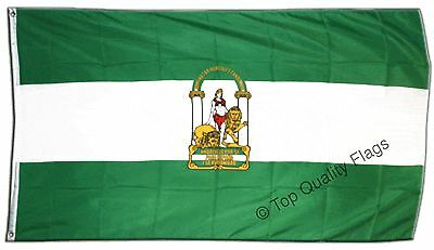 Spain Andalusia FLAG andalusian Banner 90x150cm - 5ftx3ft
